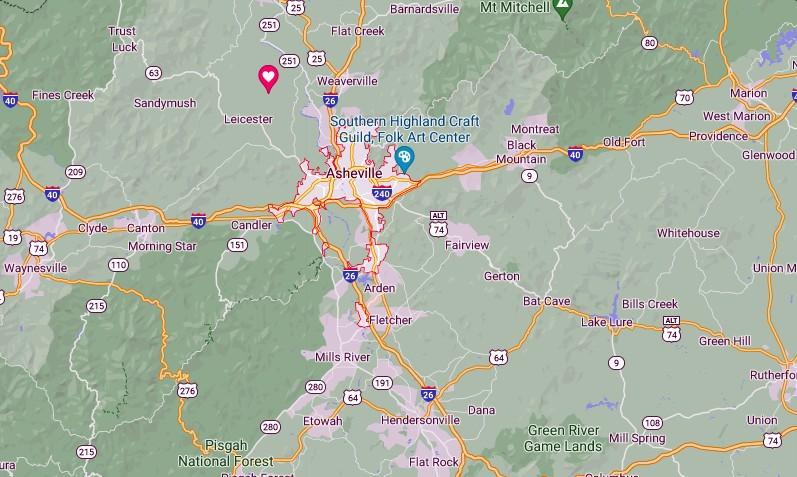 Asheville Map