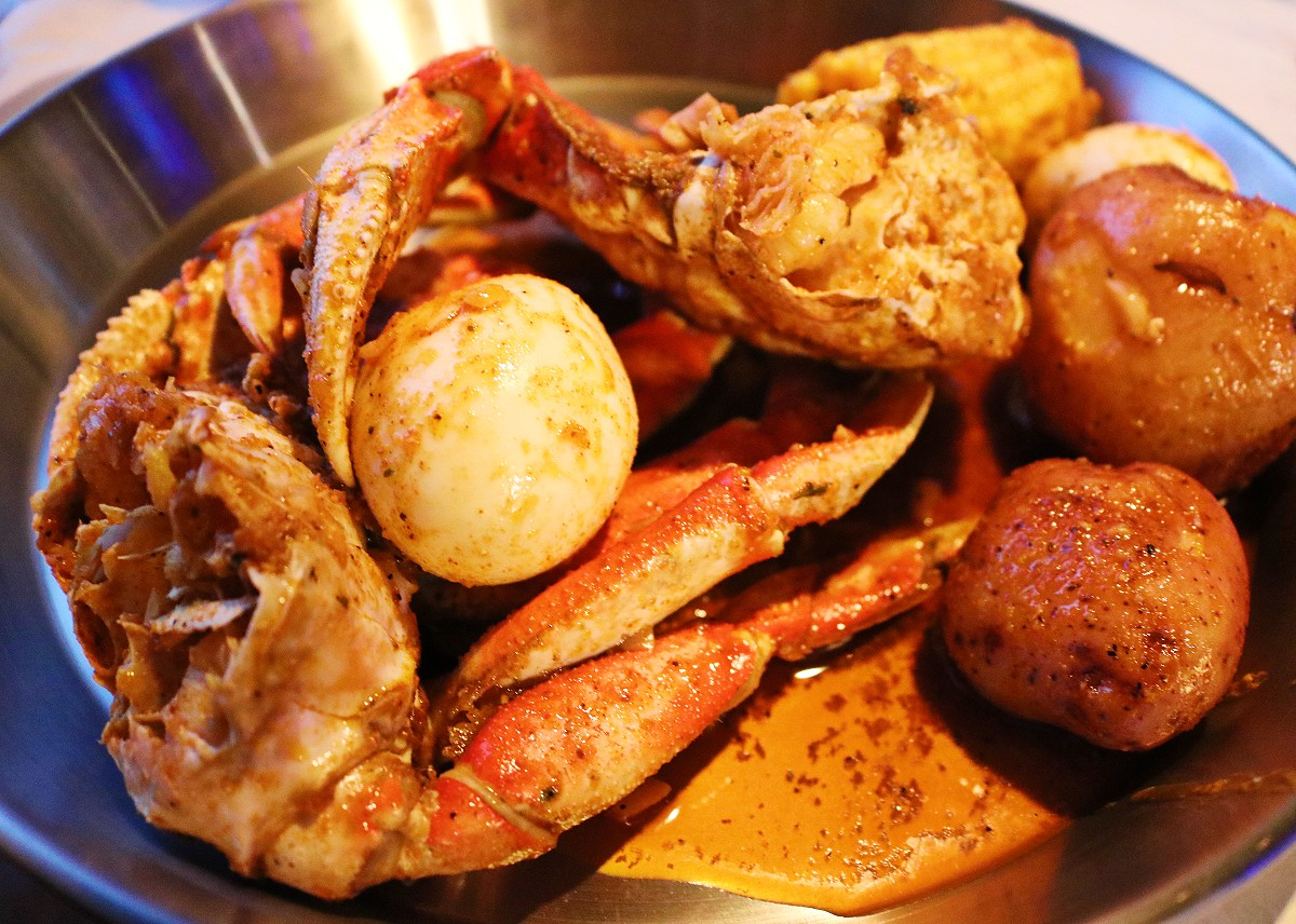 Dinner at Crab Du Jour in Asheville