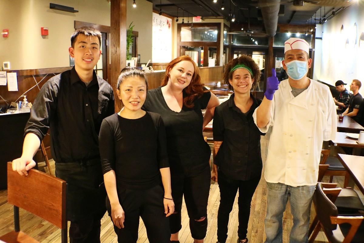 Staff at Shanghai Dumpling House in Asheville